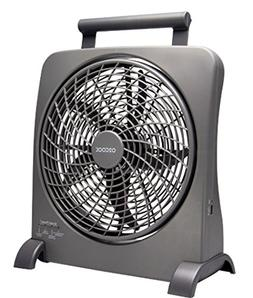 O2COOL 10-Inch Portable Smart Power Fan with AC Adapter & US