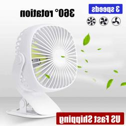 Portable USB Mini Fan 2000mA Battery Operated Rechargeable C