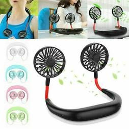 Portable USB Rechargeable Lazy Fan Hanging Neck Mini Cooling