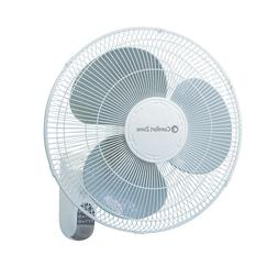 Comfort Zone  Quiet 16-inch 3-Speed Wall Mount Fan with Remo