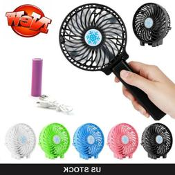 Rechargeable Quiet Fan Air Cooler Mini Operated Hand Held US
