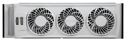 Slim Window 3 Speed Fan Home Office with Adjustable Thermost