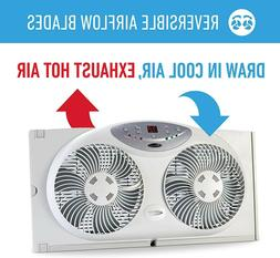 Twin Reversible Window Double Fans Home Office Dorm Room Air