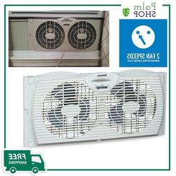 twin window fan dual blade reversible airflow