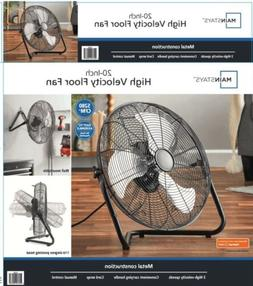 Wall and Floor Metal Fan High Velocity w/ Three Speed Blades