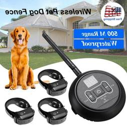 Waterproof Electric Dog Fence For 1/2/3 Dog Pet Containment