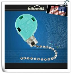 Zing Ear ZE-268S6 4 wire 3 Speed Pull Chain Switch Control f